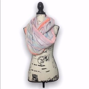 Light colored infinity wrap scarf